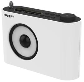 POP RADIO POP17 DAB+/FM radio met alarm, presets en hoofdtelefoon uitgang, wit