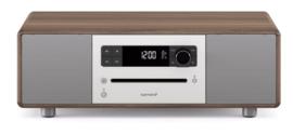 sonoro STEREO 2 SO-320 2.1 stereo muzieksysteem met DAB+ en FM, CD speler, USB en Bluetooth, walnoot