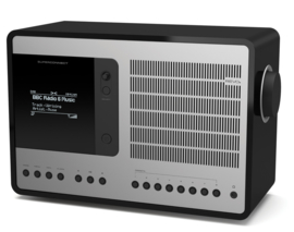 Revo SuperConnect radio met DAB+, internet, streaming, Bluetooth en Spotify, matzwart zilver