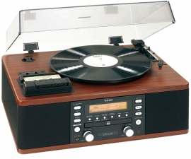 TEAC LP-R500A Multi Audiosysteem LP / CAS / CD / AM / FM / Recorder, rosewood