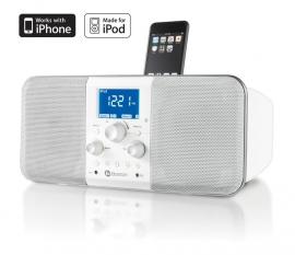 Boston Horizon Duo-i PLUS (AM/FM radio met iPod / iPhone Dock, Wit)