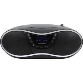 Soundmaster SCD1990SW draagbare stereo DAB+ en FM radio met CD speler en USB, zwart