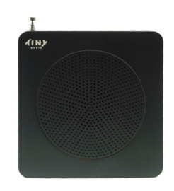 Tiny Audio Travel DAB+ en FM reisradio met wekker en accu, zwart