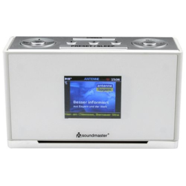Soundmaster UR240 WE DAB+ wekkerradio met FM, wit