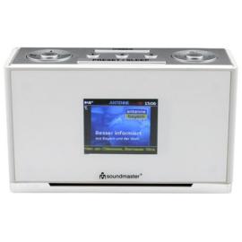 Soundmaster UR240 SW DAB+ wekkerradio met FM, wit