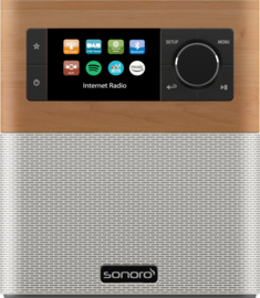 sonoro STREAM SO-411 internetradio met DAB+, FM, Bluetooth en USB, maple - white