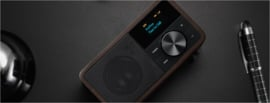 Sangean DDR-7 mini DAB+ en FM radio met Bluetooth ontvangst, Dark Wood