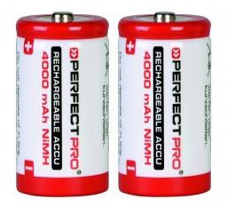 Perfectpro oplaadbare NiMH batterijen, type C, 2 stuks