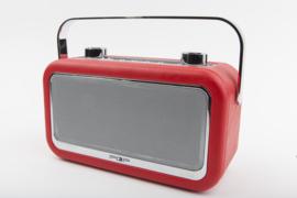 POP RADIO POPvintage DAB+/FM radio met Bluetooth, alarm en 20 instelbare presets, rood