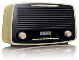 Lenco DAR-012 Stereo retro DAB+ en FM radio met Bluetooth, alarm en presets, hout