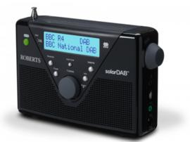 Roberts SolarDAB 2 radio met DAB+ en FM met zonnepaneel, zwart