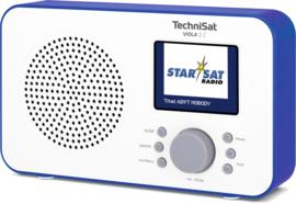 TechniSat Viola 2 C digitale portable radio met DAB+ en FM, wit-blauw