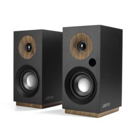JAMO S 801 PM  actieve luidsprekers met Bluetooth ontvangst en USB poort, zwart, OPEN DOOS