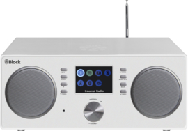 Block CR-20 Stereo smartradio met DAB+, internet en Spotify, wit