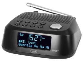 Trevi RC 80D4 DAB wekker radio met DAB+ en FM, zwart