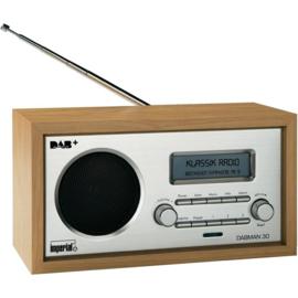 Imperial DABMAN 30 retro houten DAB+ en FM radio, hout