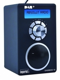 Imperial DABMAN 10 portable DAB+ en FM radio, zwart