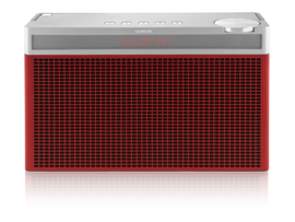 Geneva Touring / L oplaadbare portable hi-fi DAB+ en FM radio met Bluetooth, rood