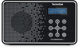 TechniSat TechniRadio 2 DAB+ en FM radio, zwart-wit