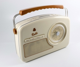 GPO Rydell retro portable DAB+ en FM radio, cream