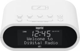 Imperial DABMAN d20 wekkerradio met DAB+ en FM radio met Qi draadloos opladen, wit