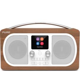 Pure Evoke H6 draagbare DAB+, FM en Bluetooth stereo radio, walnoot
