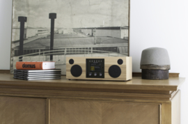 Como Audio Duetto hifi stereo alles-in-1 radio met wifi internet, DAB+, Spotify en Multi room, Hickory