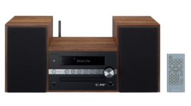 Pioneer X-CM66D stereo HiFi systeem met CD, DAB, FM, TuneIn internetradio, Spotify Connect en Bluetooth, hout - zwart