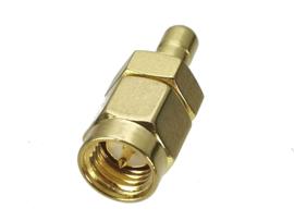 Verloop adapter connector SMA male naar SMB male / koppelstuk