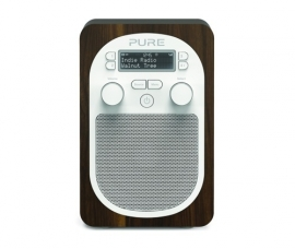 Pure Evoke D2 draagbare DAB+ en FM radio, walnoot, EX DEMO