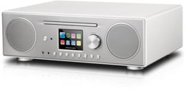 P TEC Pilatus internet stereo radio met DAB+ ontvangst, FM, Bluetooth, CD, USB en analoge ingang, zilver