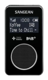 Sangean DPR-34+ oplaadbare pocketradio met DAB+ / FM en speaker, zwart
