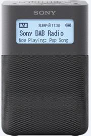 Sony  XDR-V20D draagbare oplaadbare stereo wekker radio DAB+ FM, zwart