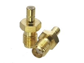 Verloop adapter connector SMA BINNEN female naar SMB male / koppelstuk