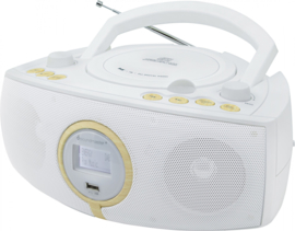 Soundmaster SCD1500WE stereo DAB+ en FM radio met CD en USB, wit