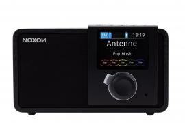 NOXON dRadio 1 DAB+ en FM radio met wekker en accu, zwart