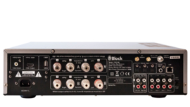 Block CVR-200 MK2 tuner AV versterker met internet, DAB+, CD, Blu-Ray, DVD, all-in-one, zilver
