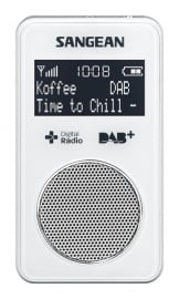 Sangean Pocket 340 (DPR-34+) oplaadbare pocketradio met DAB+ / FM en speaker, wit
