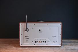 Revo SuperCD hifi stereo systeem met CD, Bluetooth, DAB+, Internetradio en Spotify, walnoot-zilver, OPEN DOOS