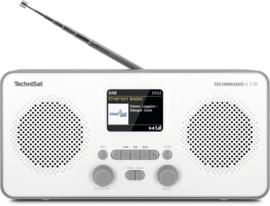 TechniSat TECHNIRADIO 6 S IR stereo digitale portable radio met DAB+, FM en internet, wit-grijs