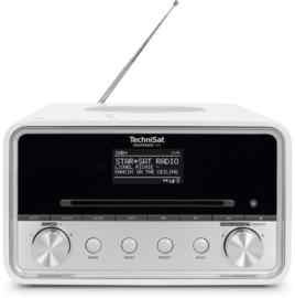 TechniSat DigitRadio 585 stereo internetradio met CD, USB, DAB+ en Bluetooth, wit, OPEN DOOS