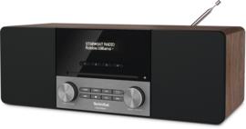 TechniSat DIGITRADIO 3 stereo tafelradio met DAB+ digital radio, FM, Bluetooth, CD-speler en USB, walnoot