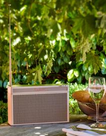 Geneva Touring / L oplaadbare portable hi-fi DAB+ en FM radio met Bluetooth, cognac