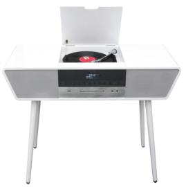 Soundmaster Elite Line NR995WE nostalgisch retro stereo hifi DAB+ muziekcentrum, wit