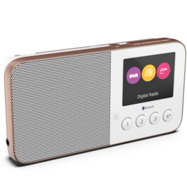 Pure Move T4 oplaadbare zakformaat radio met DAB+, FM en Bluetooth, wit