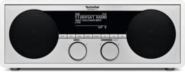 TechniSat DigitRadio 450 stereo houten internetradio met DAB+ en FM, wit