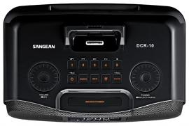 Sangean DCR-10 DAB+ / FM stereo wekker radio met docking en opname, zwart, OPEN DOOS