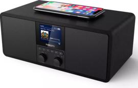 Philips TAR8805/12 stereo digitale radio met wifi internet, DAB+, FM, Bluetooth, Spotify, USB en Qi charging