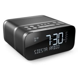 Pure Siesta S6 DAB+ en FM wekker radio met Bluetooth, Graphite, OPEN DOOS