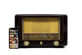 A.bsolument Nr. 838 - Echte Vintage Jaren 50 Radio met Bluetooth en audio ingang